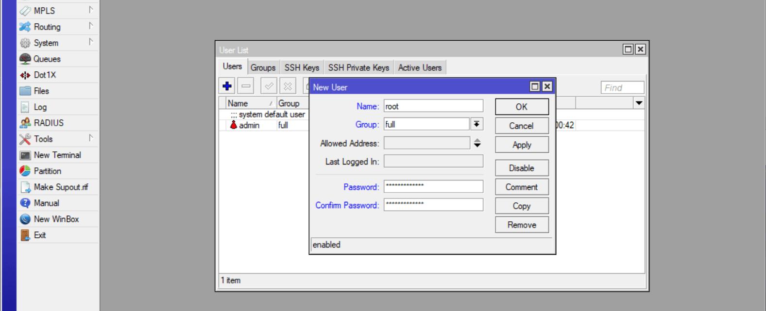 MikroTik: Базовая настройка и настройка подключения L2TP от