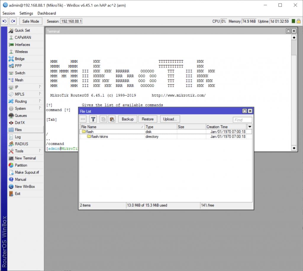 WinBox - Files