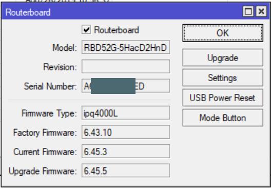 MikroTik - Обновление firmware